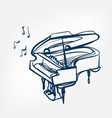 piano sketch isolated design element vector image vector image
