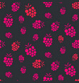 raspberry pink on purple seamless pattern vector image vector image