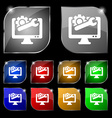 repair computer icon sign Set of ten colorful vector image vector image