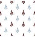 Seamless pattern with hand drawn christmas tree vector image vector image