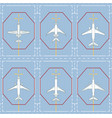 seamless pattern with passenger airplanes on apron vector image vector image