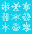 Set of crystal snowflakes elements for designers vector image vector image
