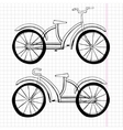 Set of doodle bicycles excellent vector image