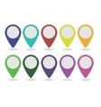 set of map pointers vector image vector image
