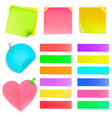 set of multi-colored stationery stickers vector image