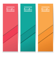 Set Of Three Colorful Abstract Vertical Banners vector image