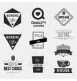 Set of vintage retro coffee Insignias or Logotypes vector image