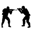 silhouette people with arms vector image