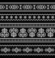 slovak tribal folk art seamless pattern