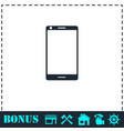 smartphone icon flat vector image vector image