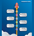 startup business infographics with 6 data vector image vector image