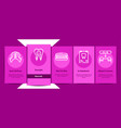 stomatology collection onboarding vector image