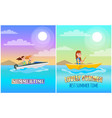summertime boating collection vector image vector image
