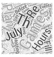 Th of July games Word Cloud Concept