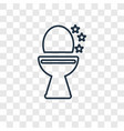 toilet cleanin concept linear icon isolated on vector image