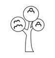 tree park flat isolated icon vector image