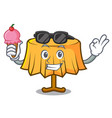 with ice cream table cloth character cartoon vector image