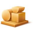 Woodworks wooden workpieces vector image vector image