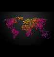 world map dots color gradient vector image