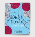 yarn balls book cover vector image