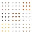 minimalistic flat animal emoticons vector image