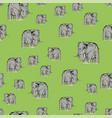 cartoon elephant seamless pattern vector image