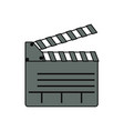 clapboard movie isolated vector image