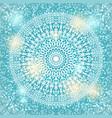 mandala snowflake background vector image