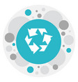 of business symbol on recycle vector image