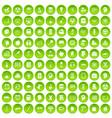 100 education icons set green circle vector image vector image