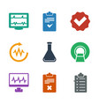 9 test icons vector image vector image