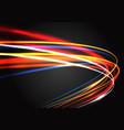 abstract color light fast speed curve motion vector image vector image