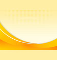 abstract yellow waves or curved professional vector image vector image