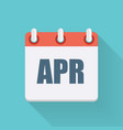 April Dates Flat Icon with Long Shadow vector image