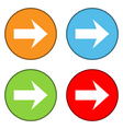 Arrow sign button set vector image vector image