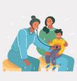 at reception pediatrician vector image vector image
