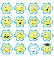 atom emoticons icons set vector image vector image
