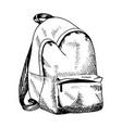 backpack sketch hand drawn rucksack sketch style