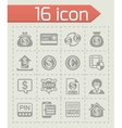Bank icon set vector image
