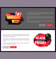 big sale on black friday tags advertising badges vector image