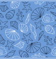 black and white outline on blue background vector image vector image