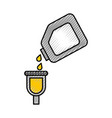 bottle of paint for car repair object icon vector image vector image