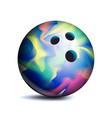bowling ball sport game symbol vector image vector image