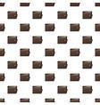brown wallet pattern vector image vector image