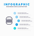 burger fast food fast food blue infographics vector image vector image