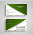 business card with white green design triangle vector image vector image