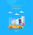 business taxi blue background vector image vector image