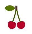 cherry icon vector image vector image