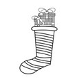 christmas boot vector image vector image