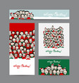 christmas cards with people crowd for your design vector image vector image